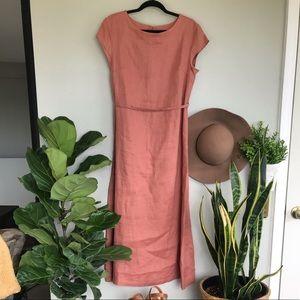 Roolee Mauve Linen Dress